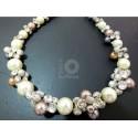 Perle und Kristall Kette.