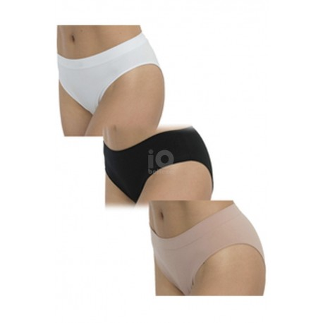 Pak 3 Bikini Invisible Hidratante Cotton Basics